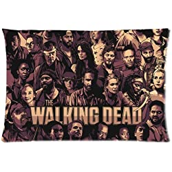 The Walking Dead Pillowcase/Fundas para almohada Custom Pillow case/Fundas para almohada Cushion Cover 20 X 30 Inch Two Sides