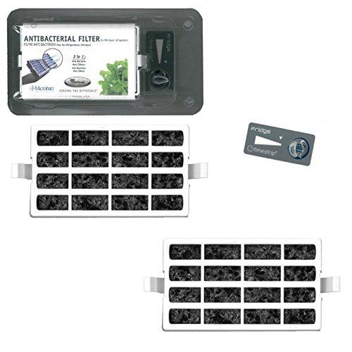 Whirlpool   Pacco da 2 - Microban ANT001, ANT-001, ANTF-MIC, 481248048172 - Filtro antibatterico per...