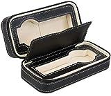 Orologio di alta qualità per la conservazione di 2orologi–nero 18x 8x 6cm–Scatola porta orologi per la presentazione di orologi da polso–Venkon