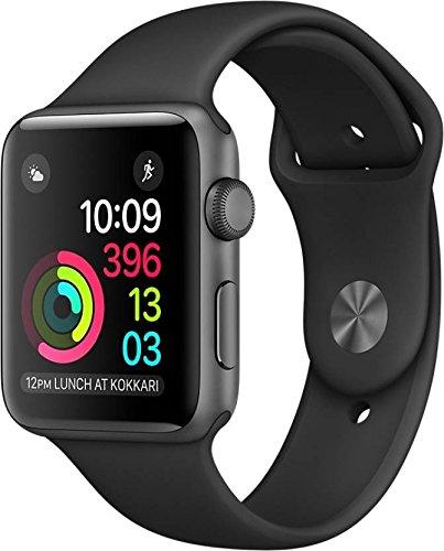Apple Watch Series 1 42mm Smart Watch (Space Gray Aluminum Case, Black Sport Band)