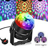 Disco Ball Light SOLMORE Disco Lights RGB 5W Party Lights 7 Modes Color Changing Sound Activated Crystal Magic Rotating Ball Strobe Lights for Kids Home Birthday Party Karaoke Club Christmas Festival