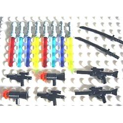 LEGO STAR WARS - 16 Waffen für Minifiguren Laserschwerter Blaster Gewehre - Waffenset