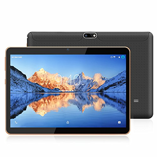 Tablets 10.1 Pulgadas Android 9.0 Pie YOTOPT, Quad Core, 2GB de RAM, 16 GB de Memoria Interna, 3G Tablet, Dual SIM, WiFi/ Bluetooth/GPS/OTG - Negro