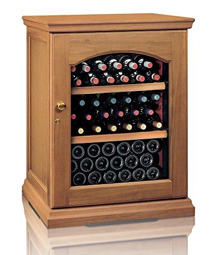 Ip Industrie - Cantinetta climatizzata legno massello porta doppio vetro capienza di 50 bottiglie in...