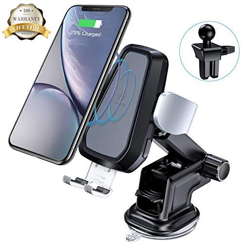 Wireless-Charger-Auto-VANMASS-Qi-Auto-drahtloses-Ladegert-sowie-QI-Ladestation-Auto-10W-75W-Wireless-Ladegert-Halterung-fr-iPhone-8-8-Plus-iPhone-XS-MAX-Samsung-Galaxy-Note8S8S8PlusS7S7EdgeS6Edge-Plus