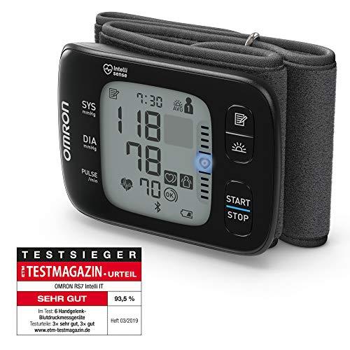 Omron RS7 Intelli IT Handgelenk-Blutdruckmessgerät mit Positionierungssensor und Bluetooth-Funktion für zu Hause und unterwegs
