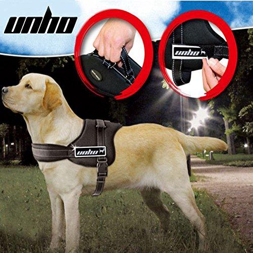 Unho - arnés ajustable de perro acolchado suave acolchado para perro grande –Resistente para perros grandes asistencia pecho de 50–110cm varían de tamaño XS-XL