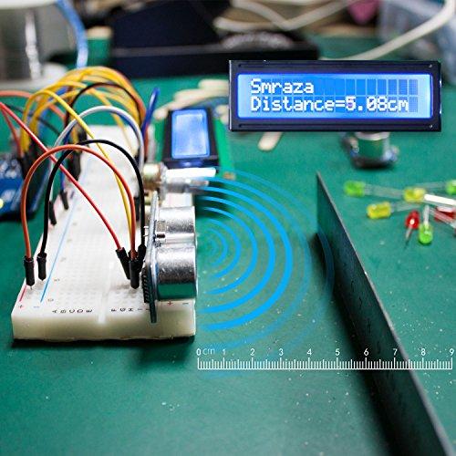 5141bNlA5ZL - Smraza Conjunto Medio a UNO para Arduino con Tutorial y Conjunto de UNO R3,Relé de 5V,Modulo de Fuente de Alimentación,Servomotor, LCD1602 para Arduino Mega 2560 Nano UNO R3