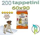 Palucart tappetini igienici per Cane 60x90 traversine per Cani - 200 - Pezzi Animali Domestici con Adesivo Anche per Gatti Anti Odore