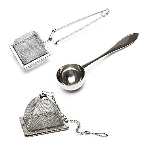 VAHDAM, Juego de 2 infusor de te y 1 cucharada de té | 100% acero inoxidable | infusionador-...