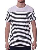 Backlight - Tee Shirt à Motif marinière Blanc - Couleur: Blanc - Taille: XXL