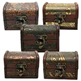 DISPLAY08vintage in legno gioielli collana di perle braccialetto organizer portaoggetti custodia confezione regalo