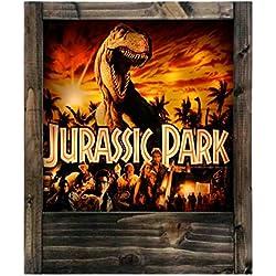Lámpara de madera Jurassic Park