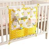 Vine Vivero Cuna Organizador ordenado para la cama de la choza Cama de bebé bolso de la bolsa de almacenamient Multifunción colgando pañales Organizador 55 * 60 cm