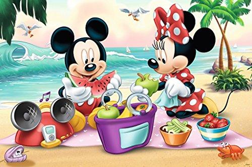 Trefl 'Mickey Mouse Picnic sulla Spiaggia Maxi Puzzle (24Pezzi, Multicolore)