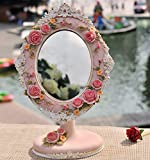 Espejos De Pie Decorativos Antiguo Baño Vintage Flores Blanco