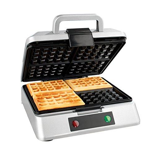 GOURMETmaxx 07836 Macchina Per Waffle | Waffle Maker | Piastra Per Quatro Gaufre | Pratica e Leggera...