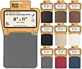MastaPlasta Self-Adhesive Leather Repair Patch. New XL 28cmx20cm. Choose colour. First-aid for sofas, car seats. Fix holes, rips, burns, stains (GREY XL)