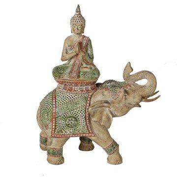 Thai Buda sentado sobre elefante figura 3