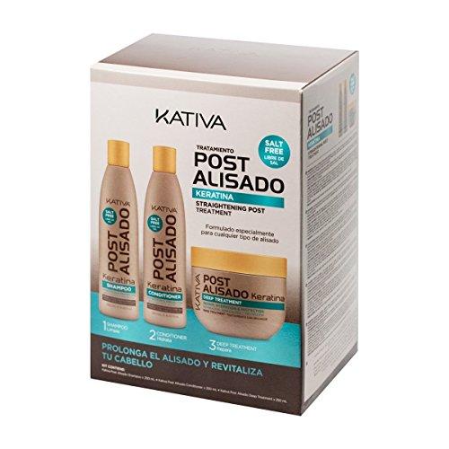 Kativa, Tratamiento Post Alisado, Champú,  Acondicionador y Tratamiento Profundo