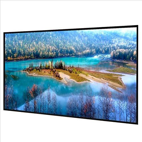 Yaheetech Beamer Leinwand 100'' Rahmen-Leinwand Rolloleinwand Projektor Heimkino HD Portabel, 227 x 130 cm