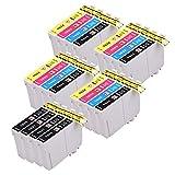 PerfectPrint Compatible Tinta Cartucho Reemplazo Para Epson WF-2010W WF-2510WF WF-2520NF WF-2530WF WF-2540WF WF-2630WF WF-2650DWF WF-2660DWF WF-2750DWF WF-2760dwf 16XL (B/C/M/Y, 20-Pack)