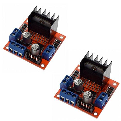 Specification:Chip: L298NLogic voltage: 5VLogic Current 0ma-36mAStorage temperature: 20℃ to ℃ to + 135Operating Mode: H di bridge driver (Dual)Drive voltage: 5V-VDrive Current: 2a (max Single Bridge)Maximum Power: 25WDimensions: 43X...