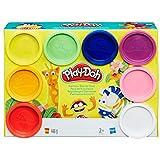 Play-Doh Hasbro A7923EU6 Lot de 8 pâtes à Modeler, Arc-en-Ciel