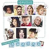 Akros 20544 - Juego de Puzzles - 10 Emociones Juegos de Aprendizaje