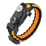 Prosperveil Outdoor Paracord braccialetto di sopravvivenza multifunzione W/bussola termometro (e)