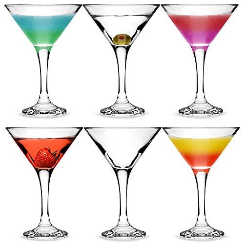 City bicchieri da Martini e Cocktail, 175 ml, Set da 6, in confezione regalo, con forma a V per...