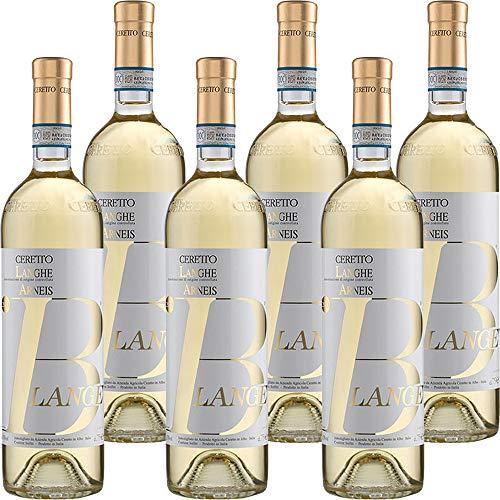 Langhe Doc Arneis Blangè | Ceretto Bio | Vino Bianco del Piemonte | Confezione 6 Bottiglie da 75 Cl | Idea Regalo