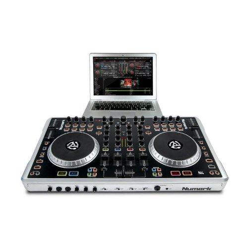 Numark n4 controlador digital dj 4 platos interfaz audio usb