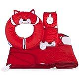Trunki Red Snuggle Bundle Felix Yondi Travel Pillow/SnooziHedz Blanket/Seatbelt Pad