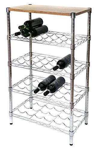 Archimede System, Cantinetta vino portabottiglie, Grigio (Cromato), 60 cm