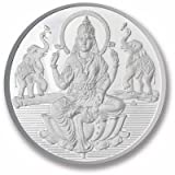 Ananth Jewels BIS HALLMARKED 999 Purity Silver Coin Sitting Lakshmi 10 grams