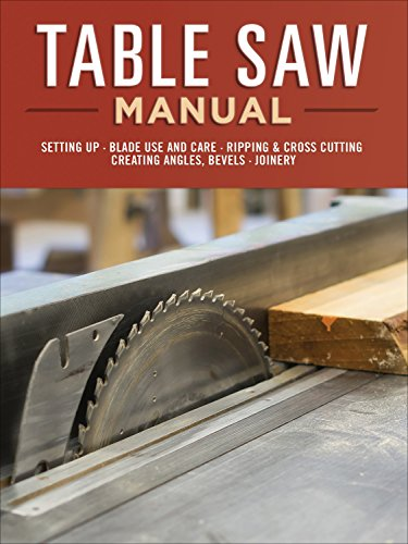 Table Saw Manual: Setting Up, Blade Use and Care, Ripping & Cross Cutting, Creating Angles, Bevels, Joinery
