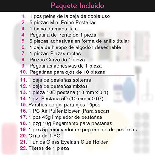 Kit Complet Exercice d' Extension de Cils Luckyfine- Niveau Luxe Édition Pratique Outil -Salon de Beauté, Outil de Maquillage -22pcs 26