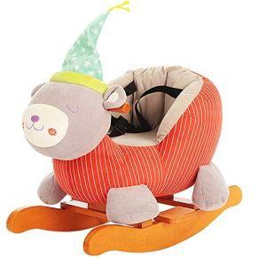 Juguetes infantiles muñecas Juguete del niño del caballo mecedora del bebé de Troya mecedora Permanente Ride-en caballo con 28 Música del cinturón de seguridad del pedal de una silla Gran idea de rega