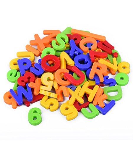 Set di 80 pezzi alfabeto magnetico | ABC Learning Toy | Giocattolo per riconoscere lettere, numeri e...