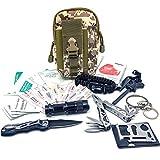 Felbridge Green Außen Notfall Survival Kit mit Multitool Zangen Set und Paracord Armbänd Für Camping, Bushcraft, Wandern, Jagd und Ihr Outdoor Abenteuer   Molle Survival Kit v1.0