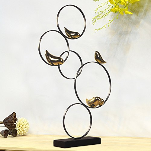VIUNCE Decorazione in Ferro Battuto Cinque Ornamenti Ornamenti Zen Cinese Uccelli Animali Arte...