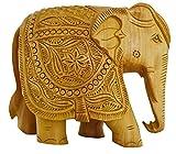 Zap Impex ® Elefante Decoración de handgeschnitzte Estatua de Madera coleccionistas Figura Escultura Figura–Mesa Cabezales y Hogar Decoración