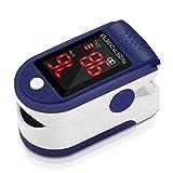 Pulsómetro Digital Oxímetro de Pulse Pulsioxímetro de Dedo con Pantalla LED,...