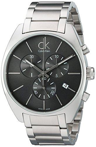 ea0c5f6249f52b Calvin Klein Orologio Cronografo Quarzo Uomo con Cinturino in Acciaio Inox  K2F27161