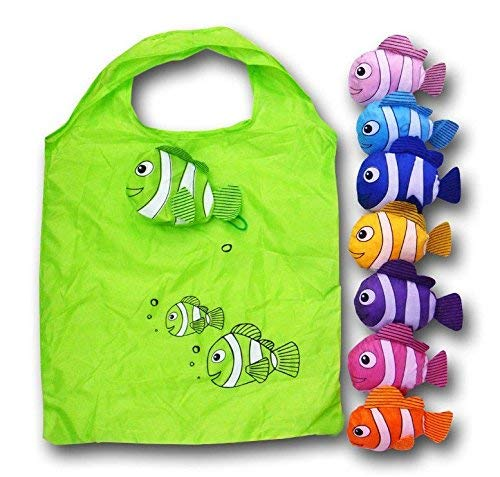 Beautiful Fish Eco-Friendly Nylon-Folding Shopping Bag - Set of 3 Assorted Bags