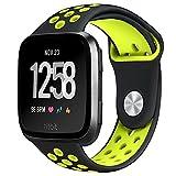 Pugo top Fitbit versa orologio da polso, morbido silicone sostituzione sport Band e regolabile, per Fitbit versa Smart Watch fitness