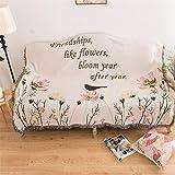 AMYDREAMSTORE País Americano Toalla de sofá Cojín para sofá Vintage Mediterráneo Manta de sofá Manta de decoración Moquetas Tapiz de Aves-A 130x160cm(51x63inch)