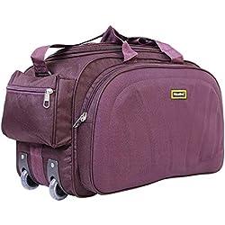 Nice Line Purple Polyester 40 litres Inch Travel Duffle Bag/Trolley Bag/Cabin Luggage (Sada Purple)