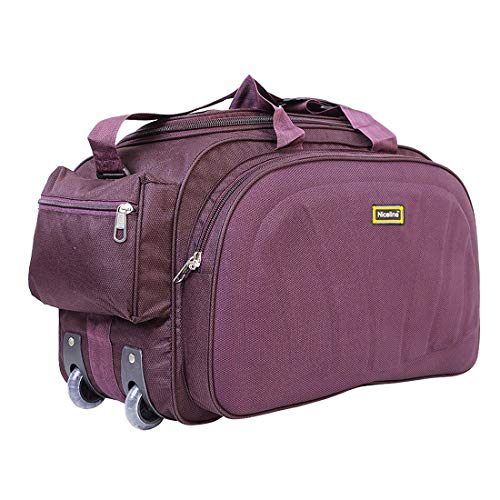 Nice Line Purple Polyester 40 litres Inch Travel Duffle Bag/Trolley Bag/Cabin Luggage (Sada Purple)
